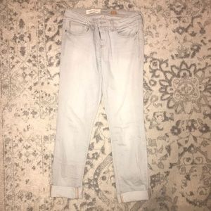 Pilcro and the letterpress Gray jeans
